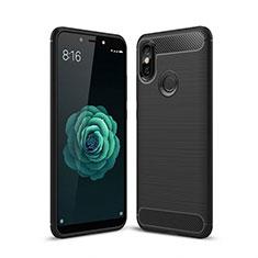 Coque Silicone Housse Etui Gel Line pour Xiaomi Mi A2 Noir