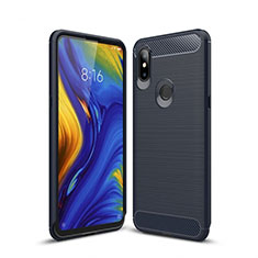 Coque Silicone Housse Etui Gel Line pour Xiaomi Mi Mix 3 Bleu