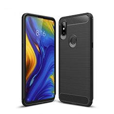 Coque Silicone Housse Etui Gel Line pour Xiaomi Mi Mix 3 Noir
