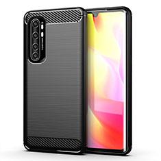 Coque Silicone Housse Etui Gel Line pour Xiaomi Mi Note 10 Lite Noir