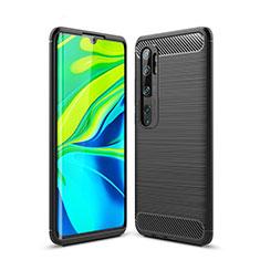 Coque Silicone Housse Etui Gel Line pour Xiaomi Mi Note 10 Pro Noir