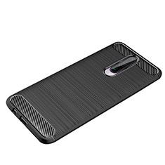 Coque Silicone Housse Etui Gel Line pour Xiaomi Poco X2 Noir