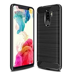 Coque Silicone Housse Etui Gel Line pour Xiaomi Pocophone F1 Noir