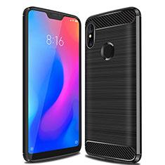 Coque Silicone Housse Etui Gel Line pour Xiaomi Redmi 6 Pro Noir