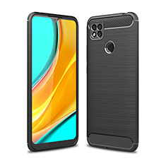 Coque Silicone Housse Etui Gel Line pour Xiaomi Redmi 9C NFC Noir
