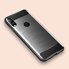 Coque Silicone Housse Etui Gel Line pour Xiaomi Redmi Note 7 Argent