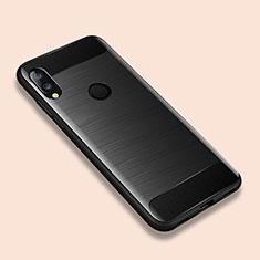 Coque Silicone Housse Etui Gel Line pour Xiaomi Redmi Note 7 Noir