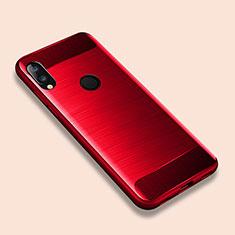 Coque Silicone Housse Etui Gel Line pour Xiaomi Redmi Note 7 Rouge