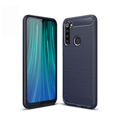 Coque Silicone Housse Etui Gel Line pour Xiaomi Redmi Note 8 Bleu