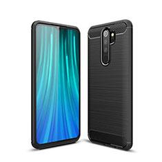 Coque Silicone Housse Etui Gel Line pour Xiaomi Redmi Note 8 Pro Noir