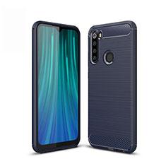 Coque Silicone Housse Etui Gel Line pour Xiaomi Redmi Note 8T Bleu
