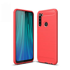 Coque Silicone Housse Etui Gel Line pour Xiaomi Redmi Note 8T Rouge