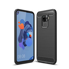 Coque Silicone Housse Etui Gel Line S01 pour Huawei Mate 30 Lite Noir