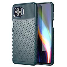 Coque Silicone Housse Etui Gel Line S01 pour Motorola Moto G 5G Plus Vert