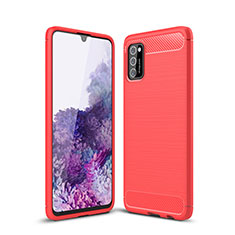 Coque Silicone Housse Etui Gel Line S01 pour Samsung Galaxy A41 Rouge