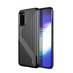 Coque Silicone Housse Etui Gel Line S01 pour Samsung Galaxy S20 5G Noir