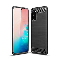 Coque Silicone Housse Etui Gel Line S02 pour Samsung Galaxy S20 5G Noir