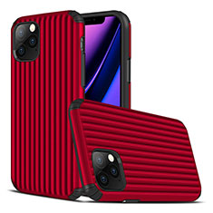 Coque Silicone Housse Etui Gel Line Z01 pour Apple iPhone 11 Pro Max Rouge