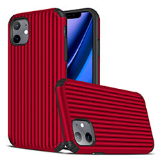 Coque Silicone Housse Etui Gel Line Z01 pour Apple iPhone 11 Rouge