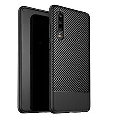 Coque Silicone Housse Etui Gel Serge G02 pour Huawei P30 Noir