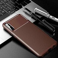 Coque Silicone Housse Etui Gel Serge pour Huawei Enjoy 10e Marron