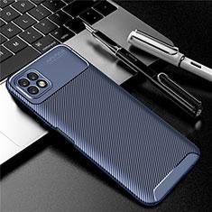 Coque Silicone Housse Etui Gel Serge pour Huawei Enjoy 20 5G Bleu