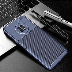 Coque Silicone Housse Etui Gel Serge pour Huawei Enjoy 20 Plus 5G Bleu