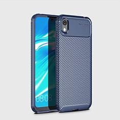 Coque Silicone Housse Etui Gel Serge pour Huawei Enjoy 8S Bleu
