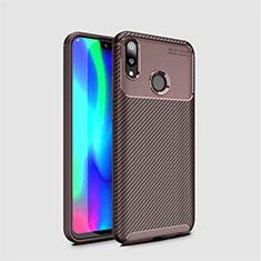 Coque Silicone Housse Etui Gel Serge pour Huawei Enjoy 9 Marron