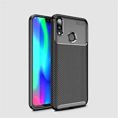 Coque Silicone Housse Etui Gel Serge pour Huawei Enjoy 9 Noir