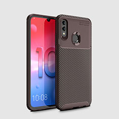 Coque Silicone Housse Etui Gel Serge pour Huawei Honor 10 Lite Marron
