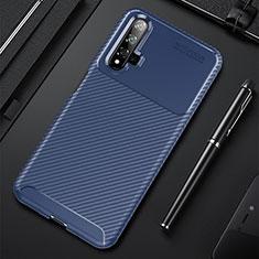 Coque Silicone Housse Etui Gel Serge pour Huawei Honor 20 Bleu