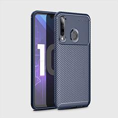 Coque Silicone Housse Etui Gel Serge pour Huawei Honor 20 Lite Bleu