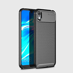 Coque Silicone Housse Etui Gel Serge pour Huawei Honor Play 8 Noir