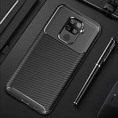 Coque Silicone Housse Etui Gel Serge pour Huawei Mate 30 Lite Noir