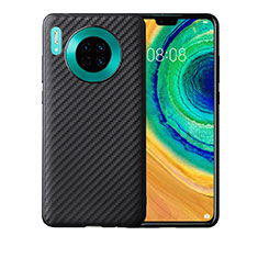 Coque Silicone Housse Etui Gel Serge pour Huawei Mate 30 Noir
