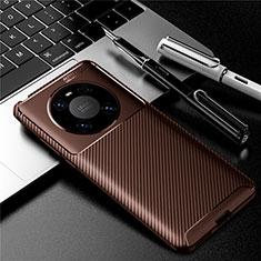 Coque Silicone Housse Etui Gel Serge pour Huawei Mate 40 Pro Marron
