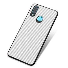 Coque Silicone Housse Etui Gel Serge pour Huawei Nova 3 Blanc