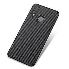 Coque Silicone Housse Etui Gel Serge pour Huawei Nova 3 Noir