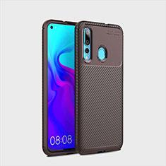 Coque Silicone Housse Etui Gel Serge pour Huawei Nova 4 Marron