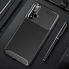 Coque Silicone Housse Etui Gel Serge pour Huawei Nova 5 Pro Noir