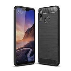 Coque Silicone Housse Etui Gel Serge pour Huawei P Smart+ Plus Noir