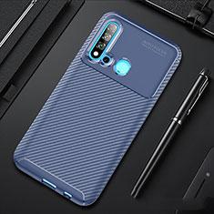 Coque Silicone Housse Etui Gel Serge pour Huawei P20 Lite (2019) Bleu