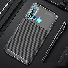 Coque Silicone Housse Etui Gel Serge pour Huawei P20 Lite (2019) Noir