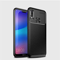 Coque Silicone Housse Etui Gel Serge pour Huawei P20 Lite Noir
