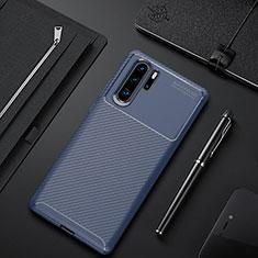 Coque Silicone Housse Etui Gel Serge pour Huawei P30 Pro Bleu