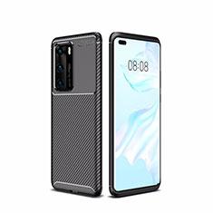 Coque Silicone Housse Etui Gel Serge pour Huawei P40 Noir