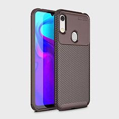 Coque Silicone Housse Etui Gel Serge pour Huawei Y6 Pro (2019) Marron