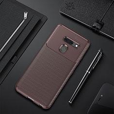 Coque Silicone Housse Etui Gel Serge pour LG G8 ThinQ Marron