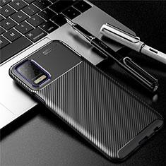 Coque Silicone Housse Etui Gel Serge pour LG Q52 Noir